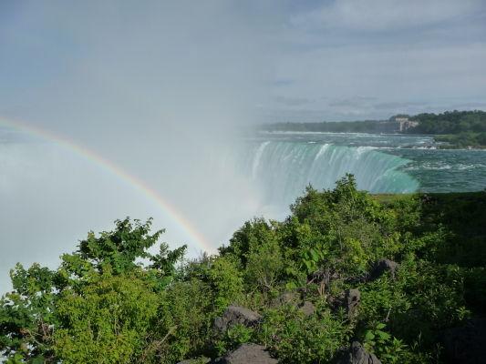 Vodopád Podkova (Horseshoe Falls) je súčasťou Niagarských vodopádov - pohľad z kanadskej strany