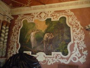 Jedna z fresiek v hale refektória - Vyhnanie z raja
