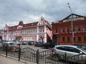 Hlavná ulica v mestečku Sergijev Posad