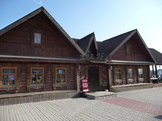 Jedna z drevených stavieb v Suzdali