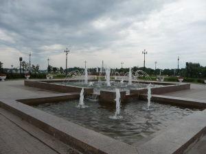 Fontány na poloostrove Strelka