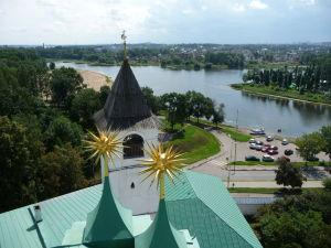 Kláštor premeny Spasiteľa - Výhľad zo zvonice - Sútok Volgy a Kotorosle