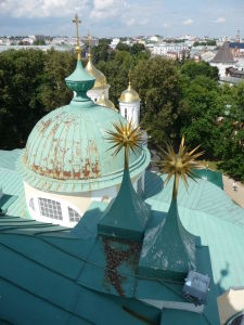 Kláštor premeny Spasiteľa - Výhľad zo zvonice