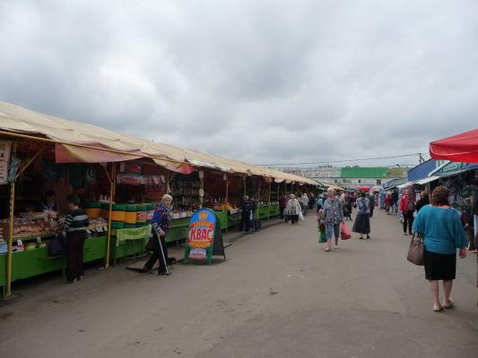 Klasické trhovisko v Kostrome