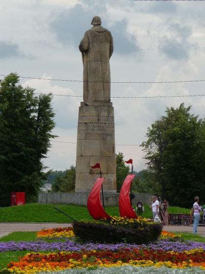 Socha Ivana Susanina na námestí pomenovanom po tomto legendárnom ruskom hrdinovi v Kostrome