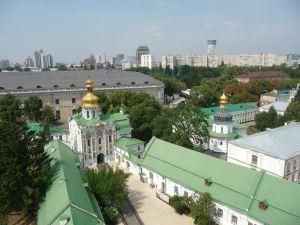 Pohľad na Kyjev zo zvonice