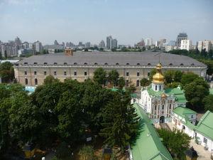 Pohľad na mesto zo zvonice kláštora