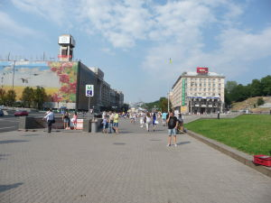 Ulica Chresčatik prechádzajúca Majdanom