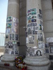 Pamätníčky na Majdane