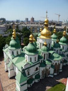 Pohľad na Kyjev zo zvonice Katedrály sv. Sofie - Katedrála sv. Sofie