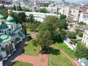 Pohľad na nádvorie Katedrály sv. Sofie