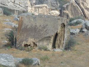 Národný park Gobustan - Petroglyfy znázorňujúce lesnú zver