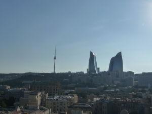 Napríklad tu vidíme televízny vysielač a Plamenné veže