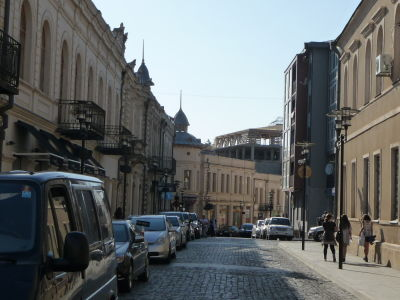 Ulice v centre Kutaisi