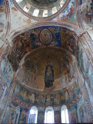 Fresky v Kostole Panny Márie - Hlavná freska Madony