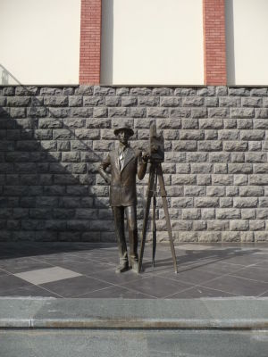 Jedna zo sôch v uliciach Kutaisi