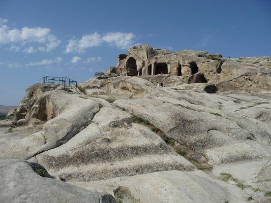 Zvyšky kamenného mesta Uplisciche - hlavný komplex budov