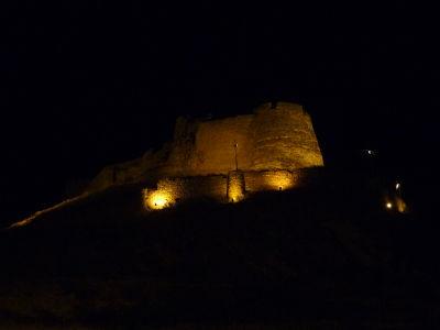 Nočné osvetlenie hradu
