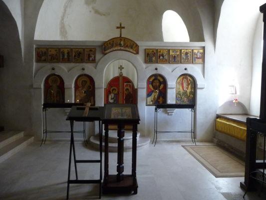 Svätyňa v kláštore Davida Garedžu v Gruzínsku