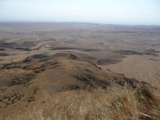 Azerbajdžan pri pohľade z kopca nad kláštorom Davida Garedžu
