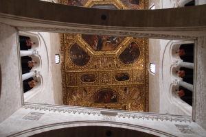 Zlatý strop - jediný pozostatok barokovej interiérovej výzdoby