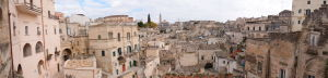 Výhľad na staré mesto Matera