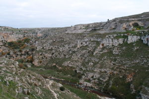 Údolie vyrezané riečkou Gravina