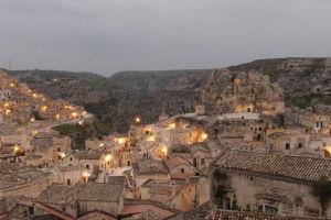 Sasso Caveoso podvečer