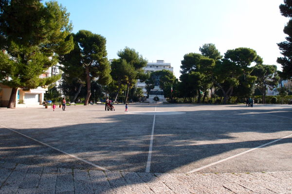 Villa Comunale - miestny hlavný park na námestí v Molfette