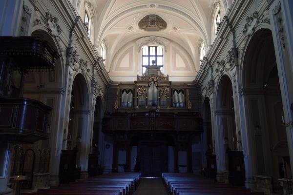 Organ a hlavná loď - Katedrála Nanebovzatia Panny Márie (Cattedrale di Santa Maria Assunta) v Molfette