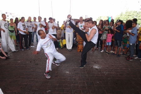Capoeira v uliciach São Paula