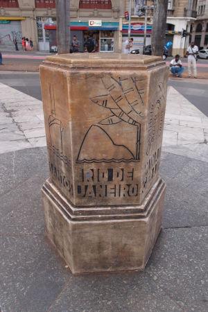 Kameň Marco Zero de São Paulo - Symbolizuje úplný stred mesta