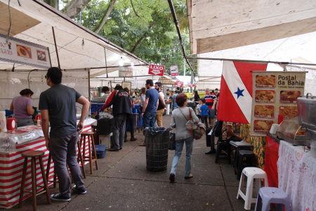 Trh na námestí Praça Benedito Calixto - Food court