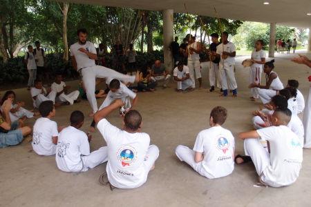 Capoeira v parku Ibirapuera