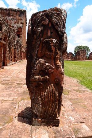 Ruiny jezuitskej misie Trinidad - Socha