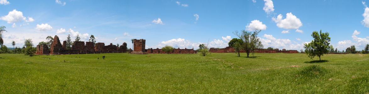 Ruiny jezuitskej misie Trinidad - Panoráma