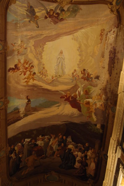 Freska v jezuitskom kostole (Iglesia Compañía de Jesús) v Córdobe