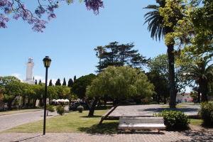 Plaza Mayor - Vľavo vidieť maják