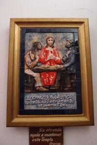 Pamätná tabuľa v bazilike