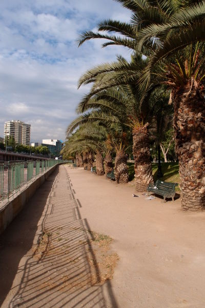 Promenáda pri rieke Mapocho v Santiagu de Chile