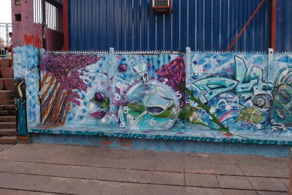 Santiago de Chile - Graffiti v okolí múzea La Chascona