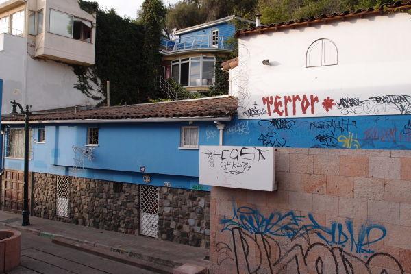La Chascona - Modrý dom Pabla Nerudu v Santiagu de Chile