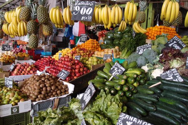 La Vega - najväčšia mestská tržnica v Santiagu de Chile - výber je naozaj neskutočný