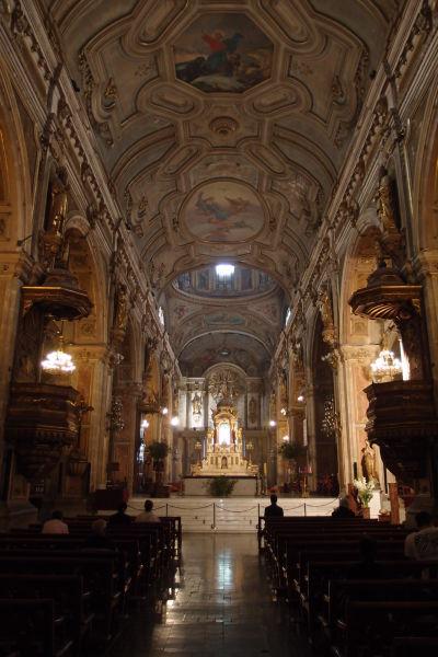 Centrálne kríženie v Metropolitnej katedrále v Santiagu de Chile