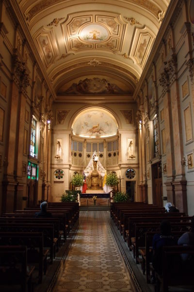 Jedna z kaplniek v Metropolitnej katedrále v Santiagu de Chile
