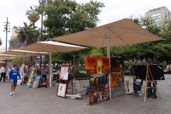 Tržnica - Námestie Plaza de Armas v Santiagu de Chile