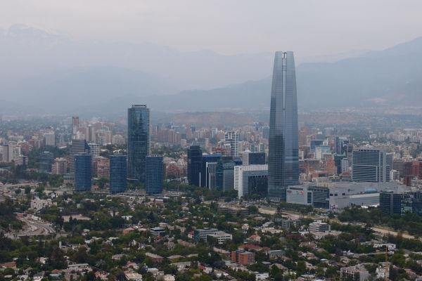 Gran Torre Santiago - Najvyššia budova Južnej Ameriky v Santiago de Chile