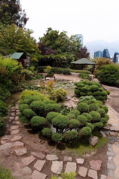 Japonská záhrada na kopci San Cristóbal v Santiagu