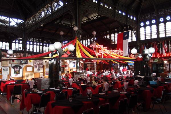 Centrálna tržnica (Mercado Central) v Santiagu