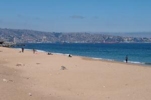 Pláž vo Valparaíse